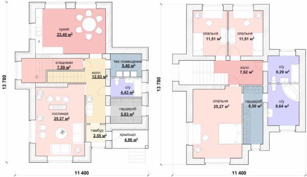 Без компромиссов: полноценный двухэтажный дачный дом для постоянного проживания.