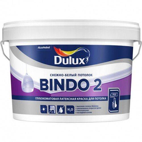 Bindo 2 — отличный выбор для покраски потолков и стен в сухих помещениях