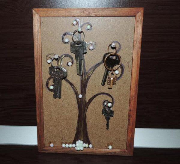 Благодаря наличию ключницы в доме любой из жильцов всегда знает, где искать ключи