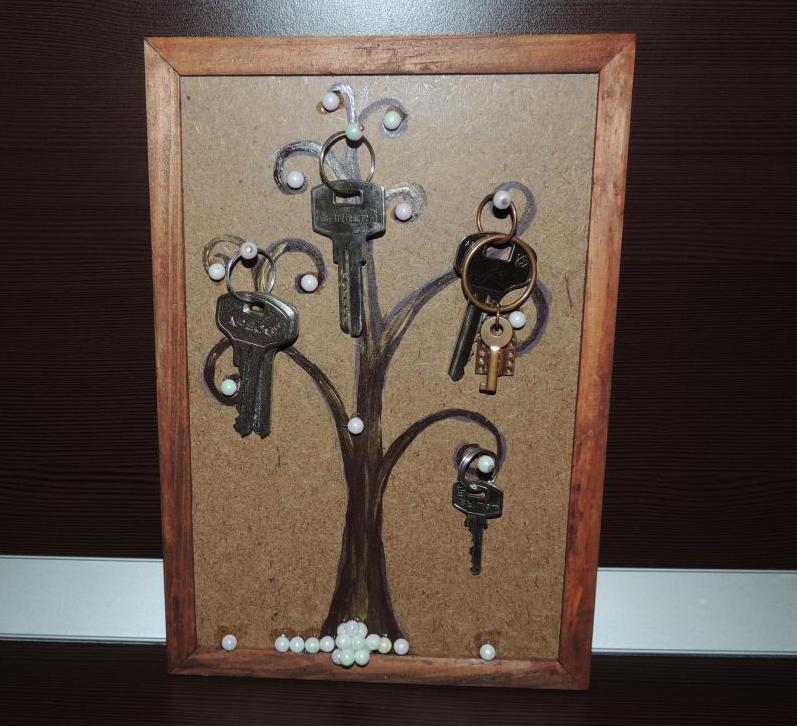 Декор своими руками ключница