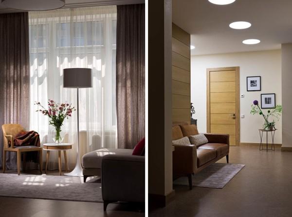 Часть гостиной и коридора