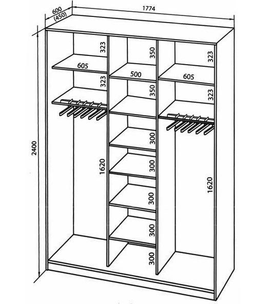 Шкафы купе и чертежи