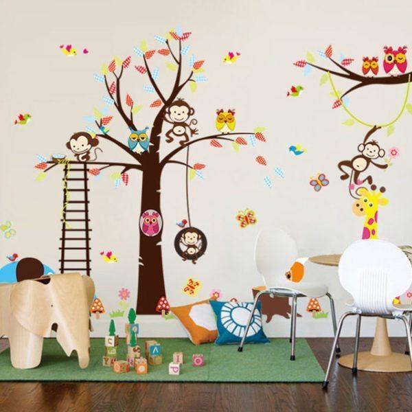 Декорирование детской комнаты при помощи виниловых наклеек.