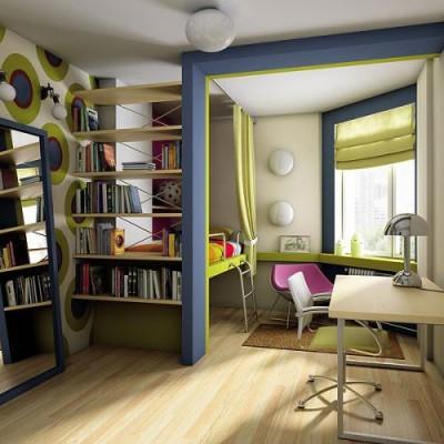 Детская в нише маленькой квартиры