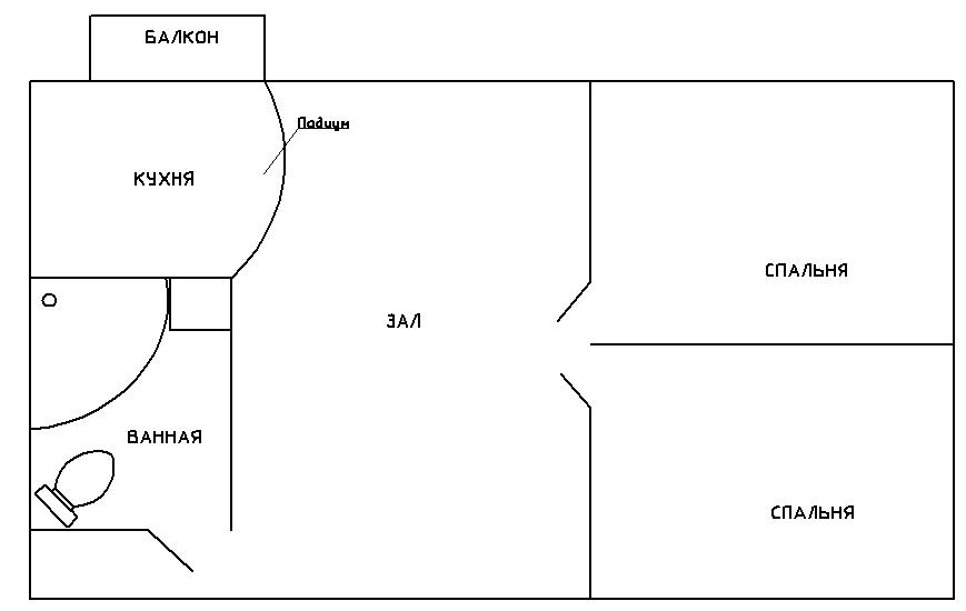 Дизайн перепланировка однокомнатной хрущевки