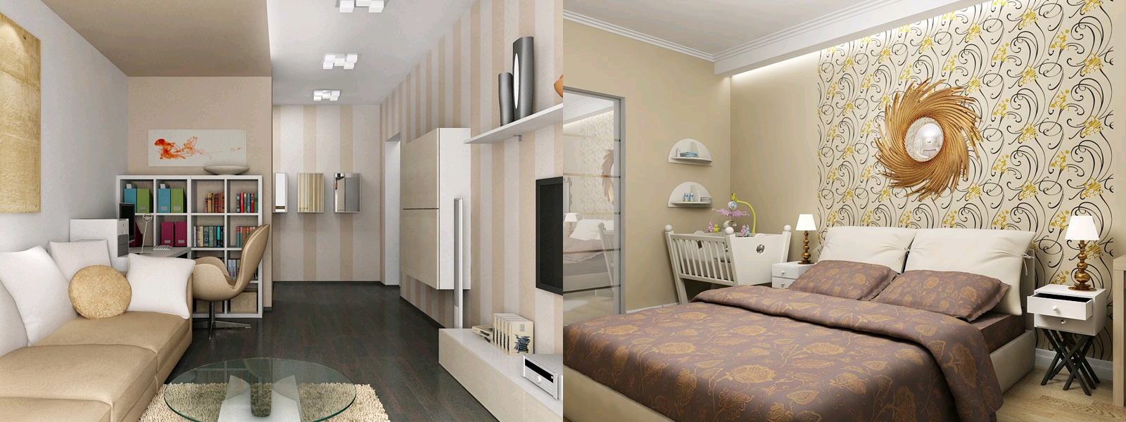 Интерьер двухкомнатной квартирисделать дизайн 2 комнатной квартиры хрущовки нескучным, что запоминается, подчеркнуть достоинства  интерьера можно с помощью использования