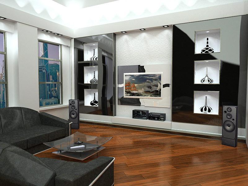 Дизайн большой комнаты выбираем свой