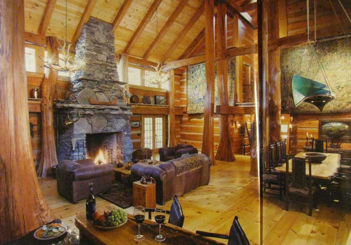 Интерьер деревянного дома внутри фото и видео идеи