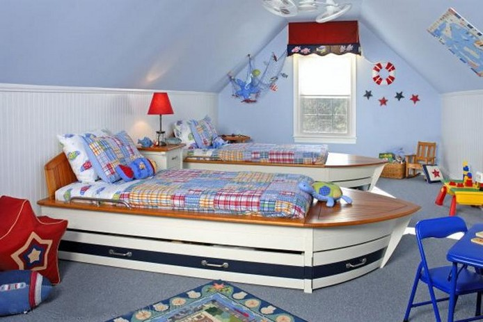 как оформить детскую комнату для разнополых детей.