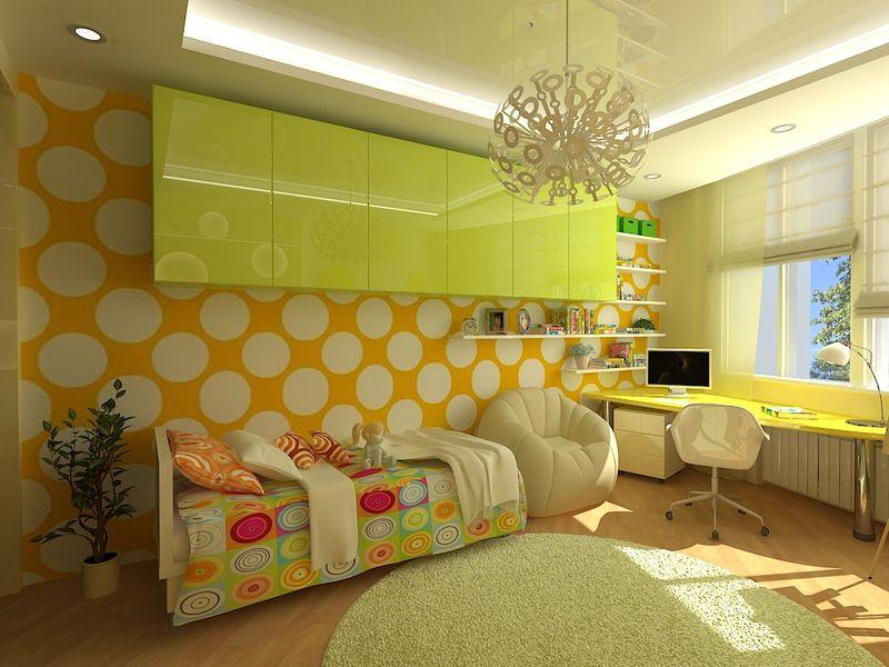 Дизайн проект комнаты для девочки