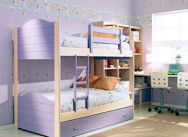 Интерьер для детской комнаты для двоих детей