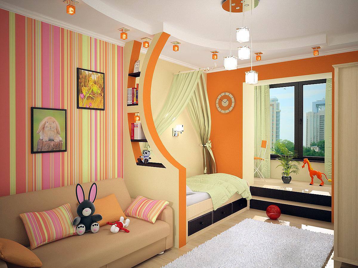 Варианты детских комнат