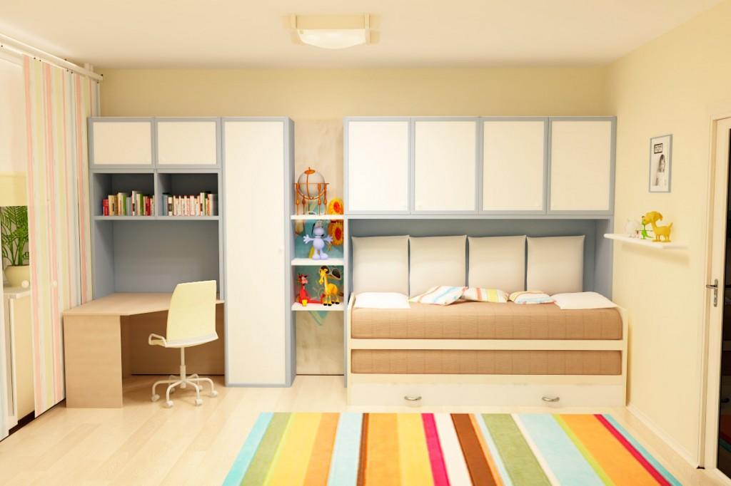 Дизайн спальня с камином
