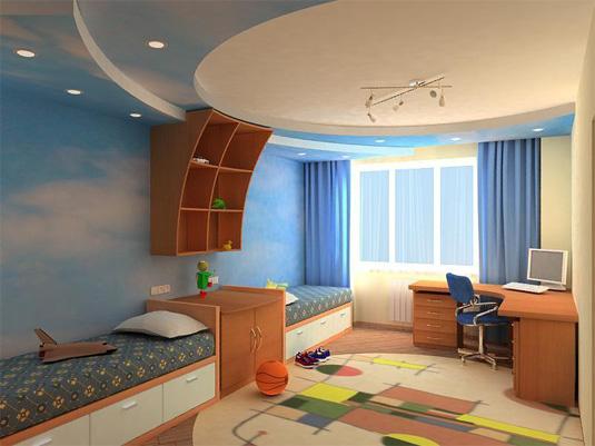 Дизайн потолков фото в детской