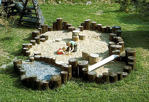 дизайн детской площадки на даче