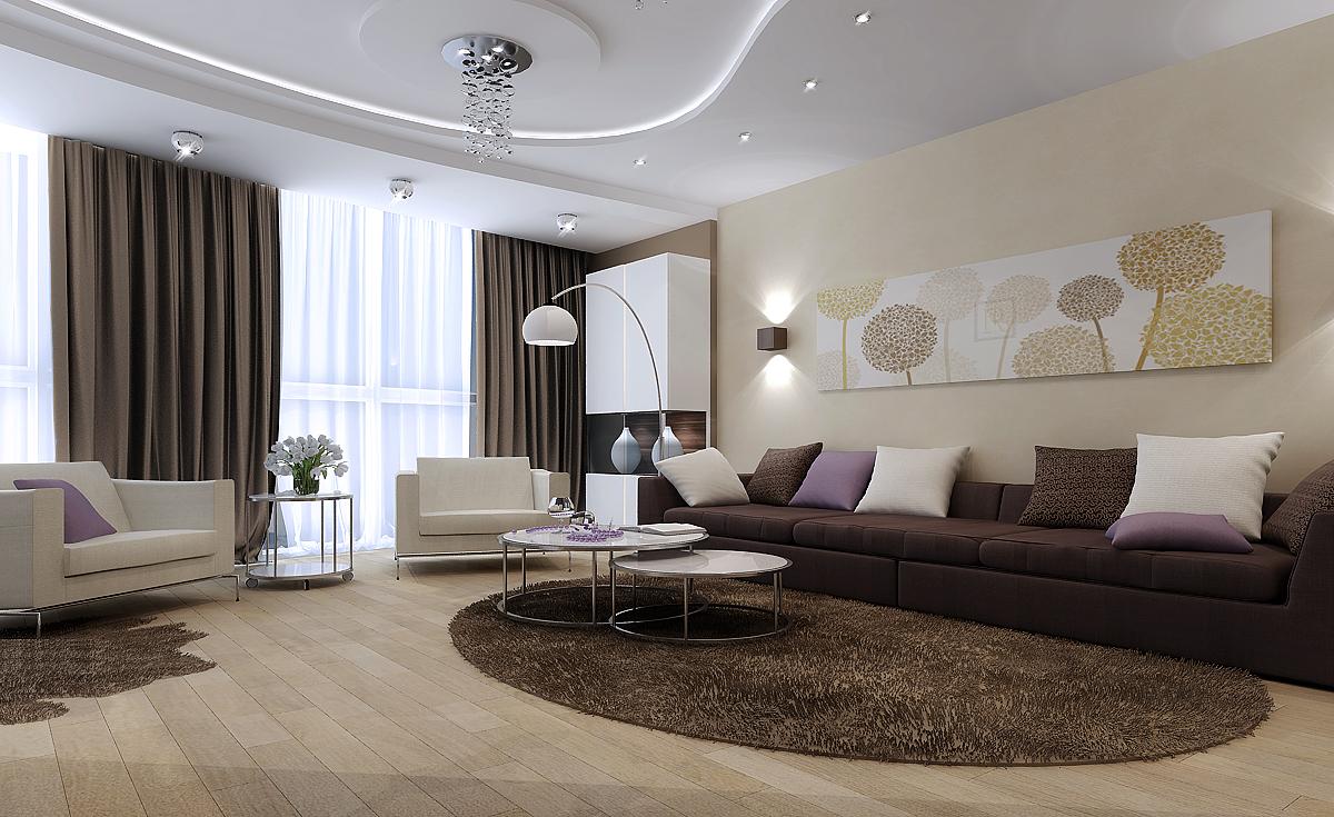 Дизайн интерьера  зала