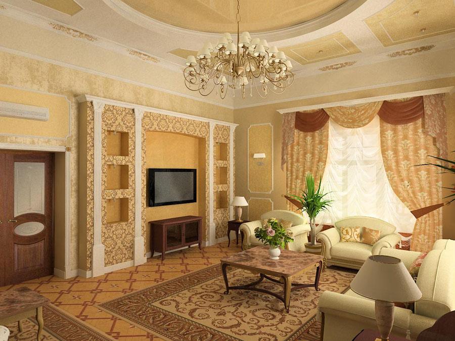 Варианты интерьера зала