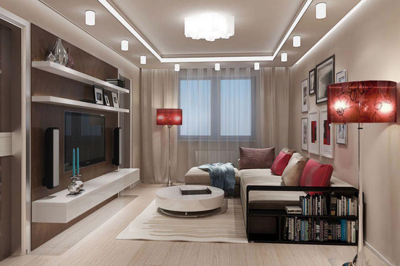 Дизайн зала 16 кв м