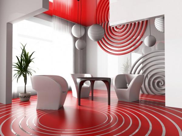 Дизайн гостиной кабинета