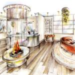 Дизайн гостиной комнаты: фьюжн, лофт, контемпрорари, арт-деко