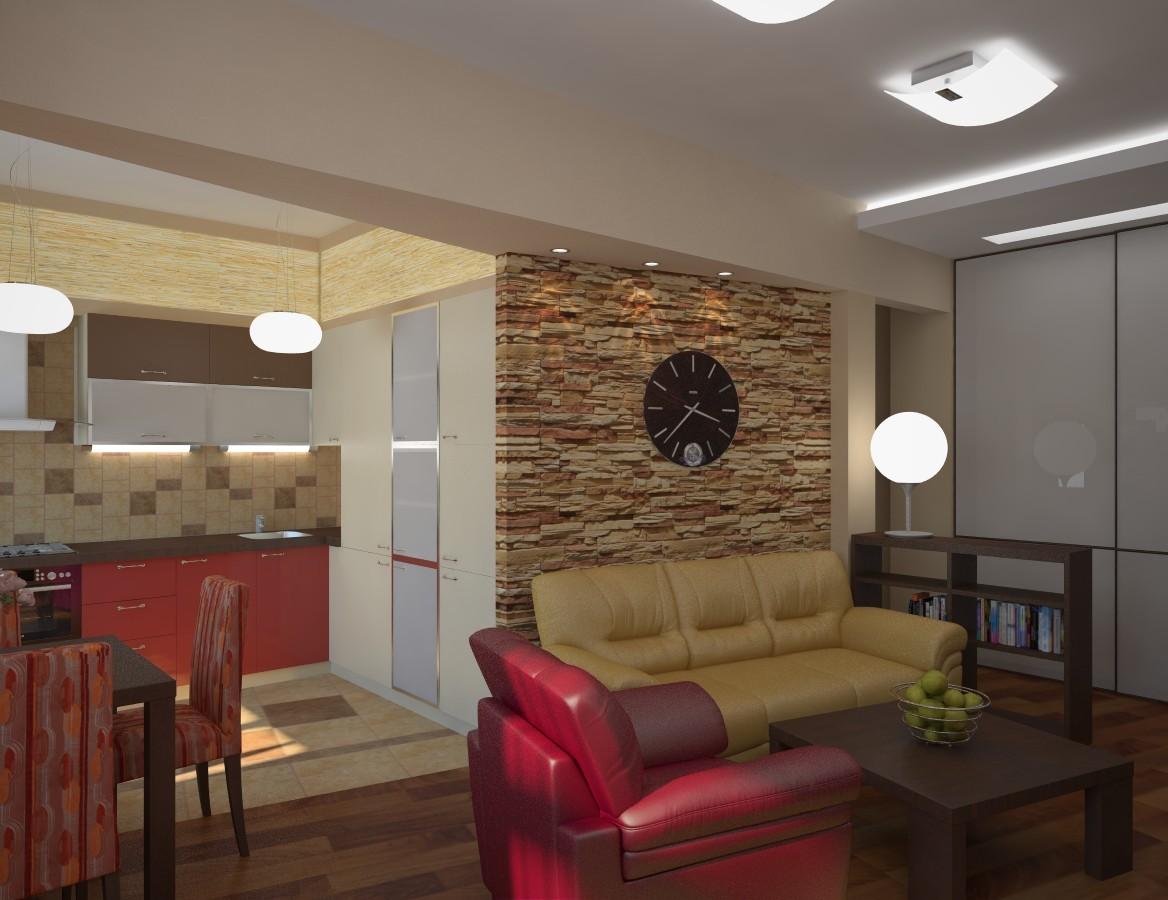 Дизайн гостиной кухни в хрущевке фото