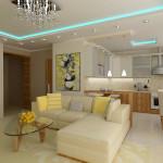 Дизайн гостиной-кухни