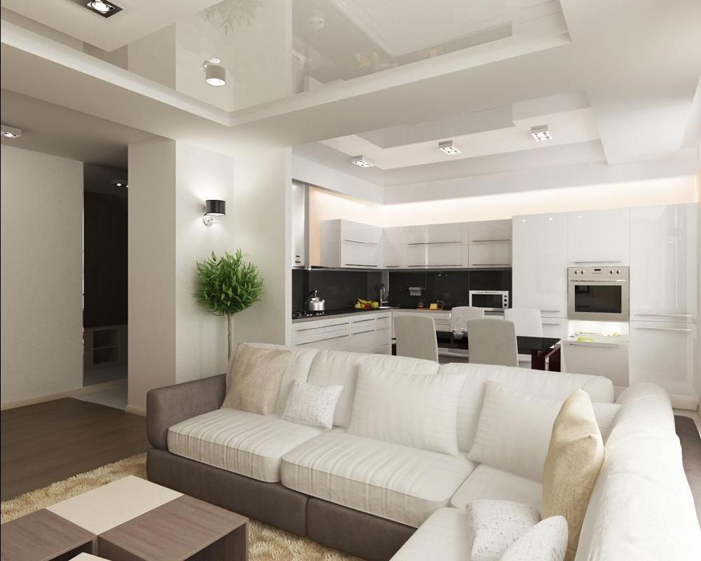 Гостинная кухня дизайн