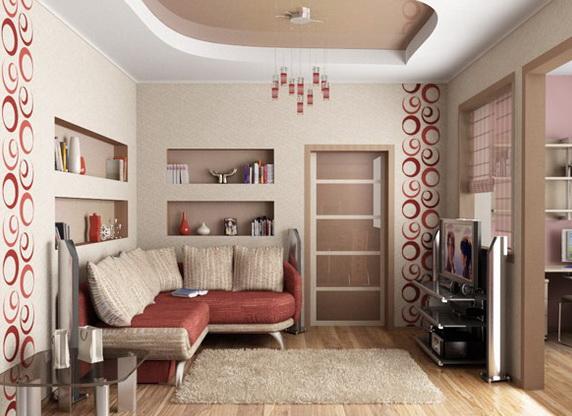 Дизайн гостиной маленькой комнаты