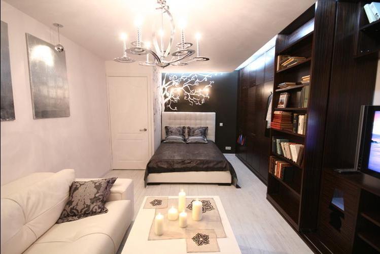 Дизайн гостиной совмещенной со