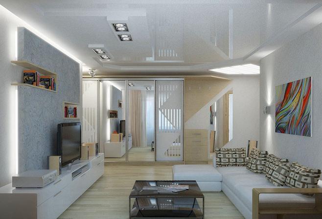 Дизайн зала если он не большой