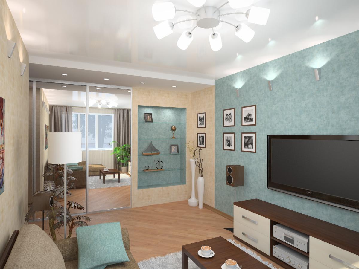 Ремонт гостиной дизайн в маленькой квартире