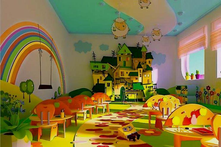 Интерьер детский сад своими руками