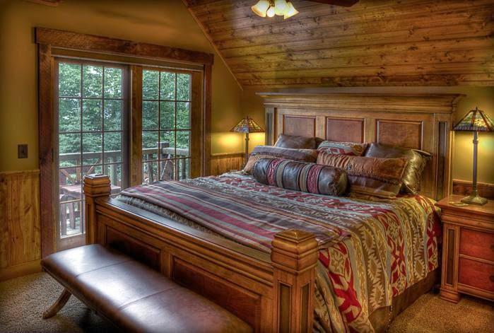 Спальня дизайн в деревянном доме