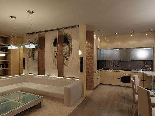 Фото дизайн кухня зал