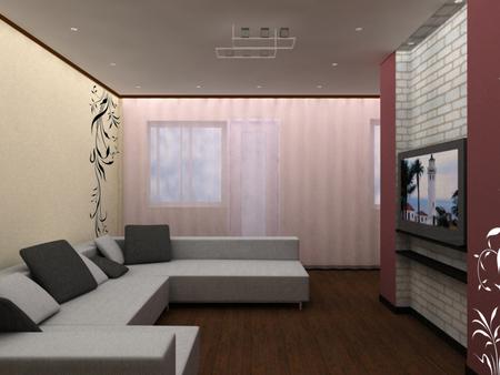 Гостиная дизайн в квартире 17 кв.м фото