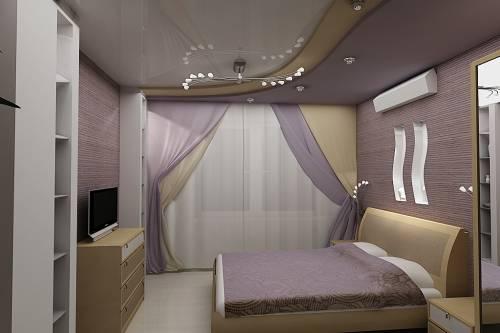 Варіант оформлення маленької спальні