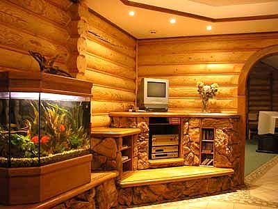 Дизайн комнат в деревянном доме