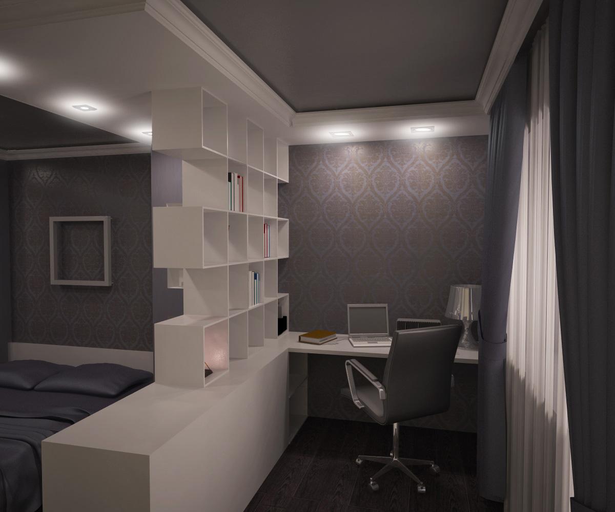 Интерьер зала 17 кв м