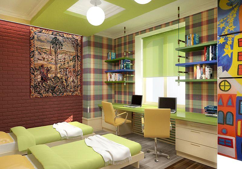 Дизайн комнаты для подростков двух мальчиков фото
