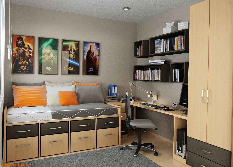 интерьер комнаты подростка мальчика фото