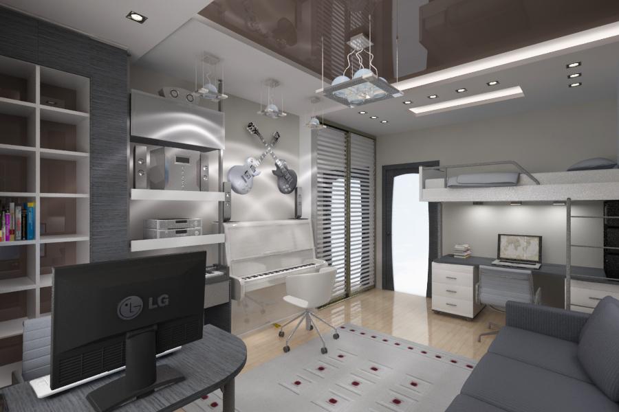 Дизайн комнаты для мальчика подростка фото