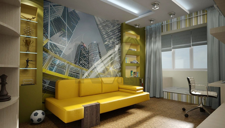 Дизайн комнаты для мальчика 12 лет в современном стиле