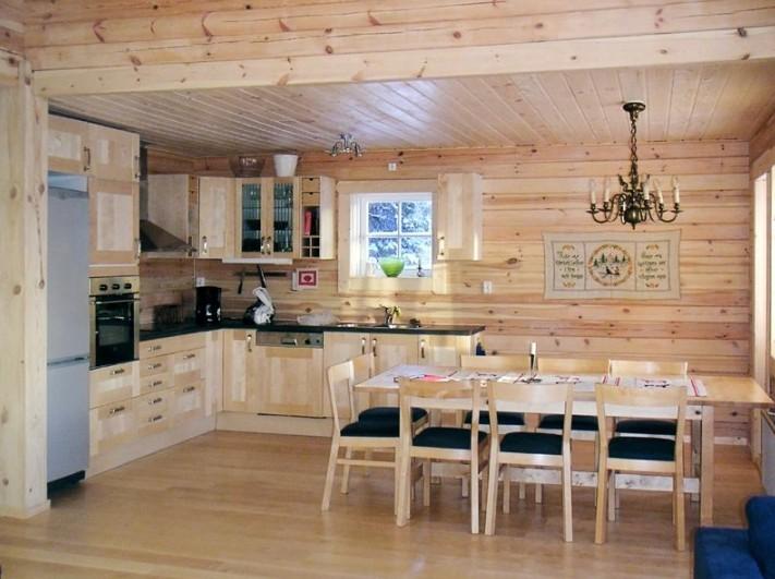 кухни для деревянного дома фото