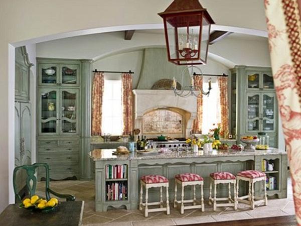 интерьер кухни в стиле прованс в квартире фото