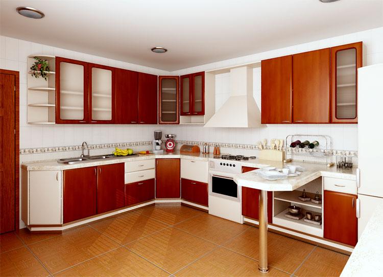 Кухни фото и цены Мебель для небольшой кухни Трапеза Классика 2400 мм (с нишей) ПВХ Интерьер кухни в доме Купить