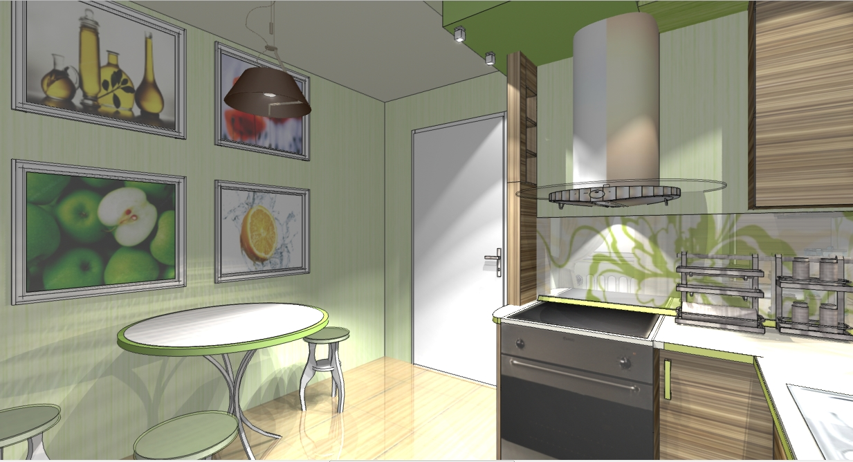 Дизайн кухни 8 м2 с балконом