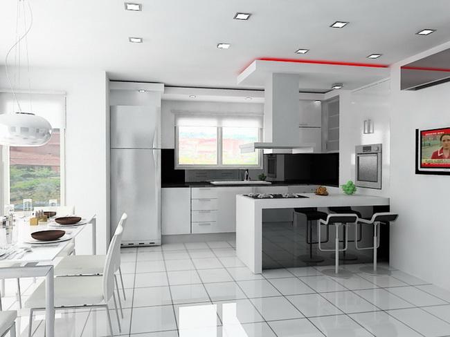 Дизайн кухни с барной