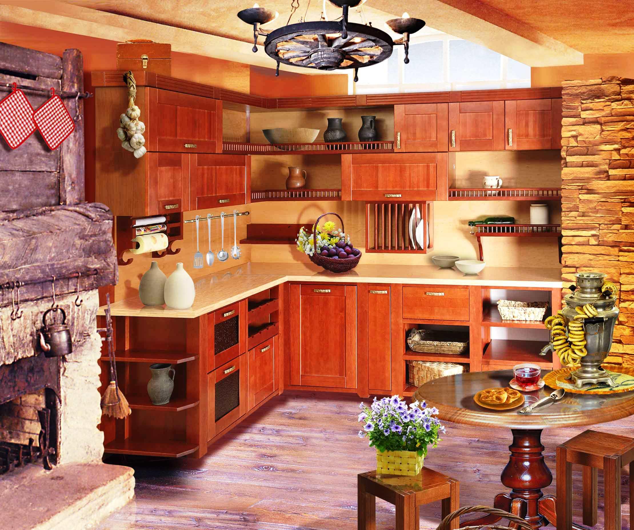 Через значне простору дизайн кухні в