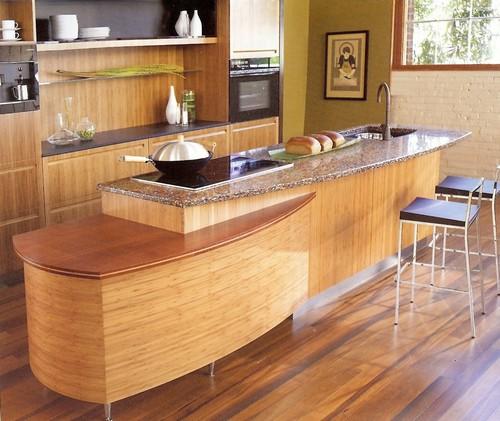 Способы дизайна кухни в деревянном доме.
