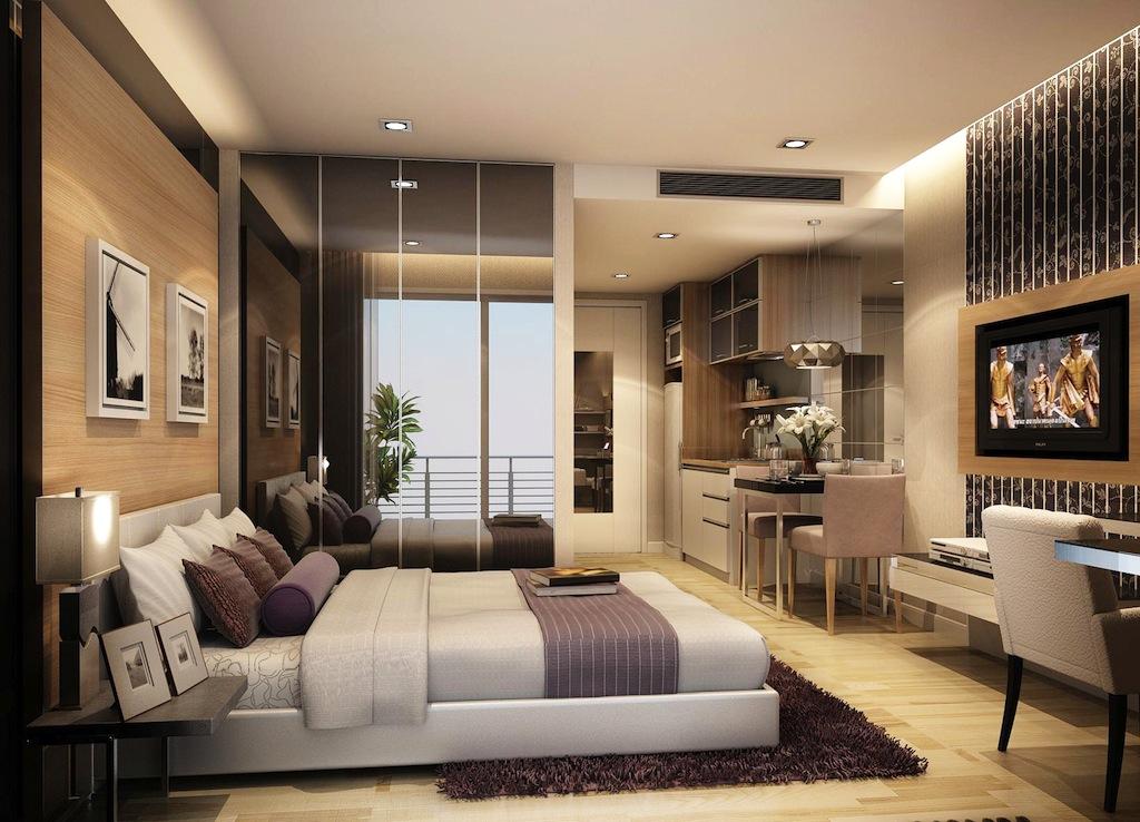 Дизайн спальни 30 кв.м фото